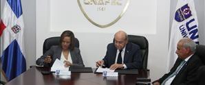 UNAPEC y UAF firman convenio que promueve la formación de profesionales contra lavado de activos, financiamiento del terrorismo y armas de destrucción