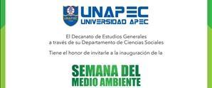 Inauguración Semana del Medio Ambiente UNAPEC 2017